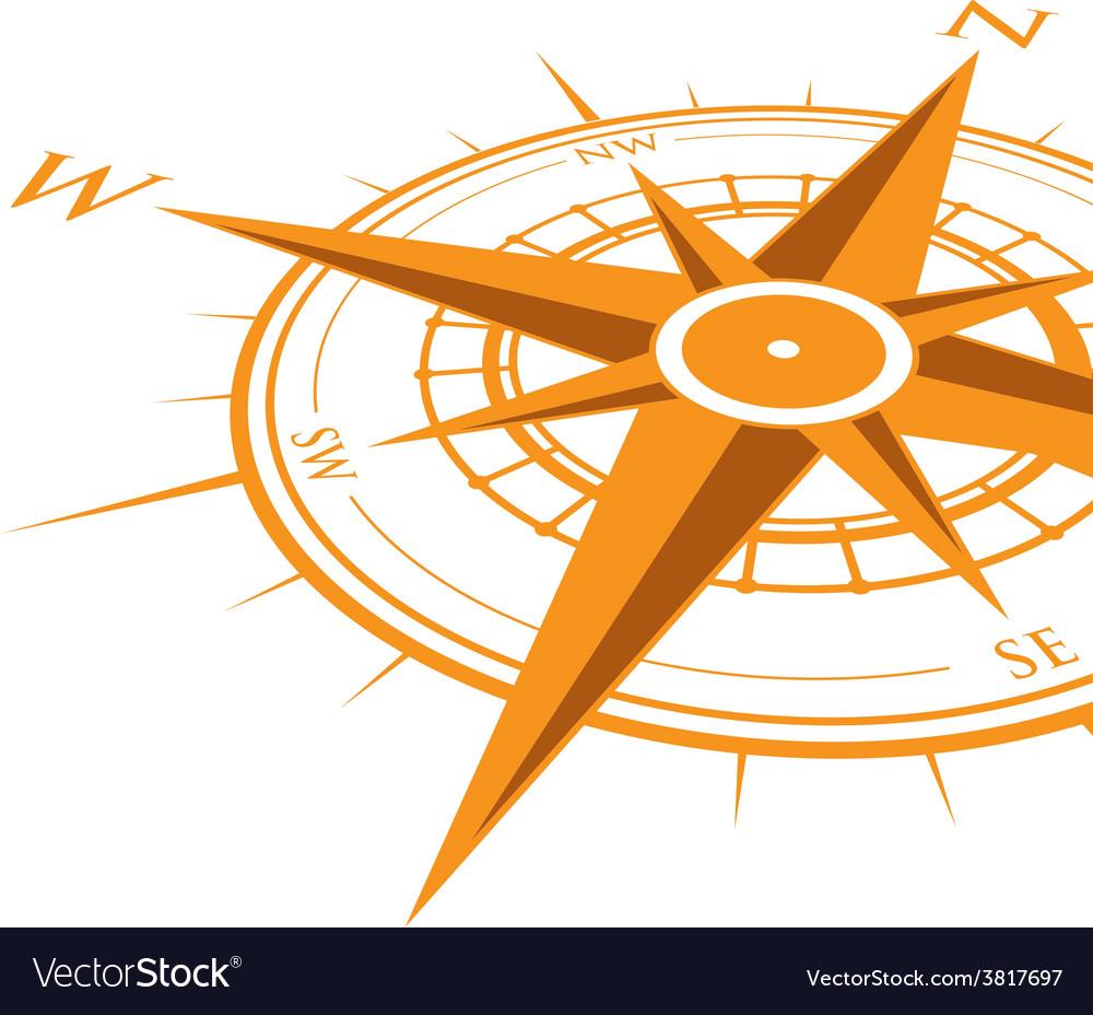 Orange compass vector | Price: 1 Credit (USD $1)