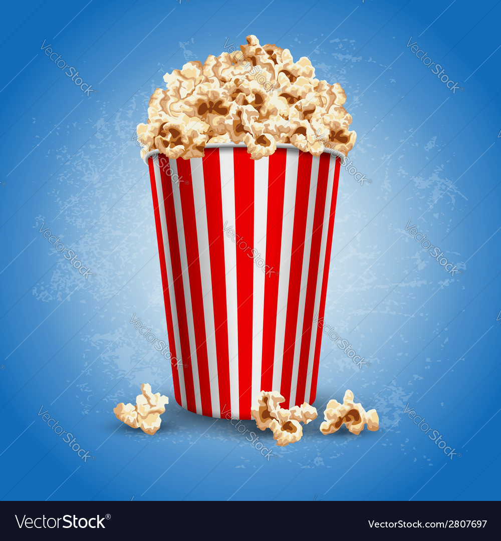 Popcorn vector | Price: 3 Credit (USD $3)