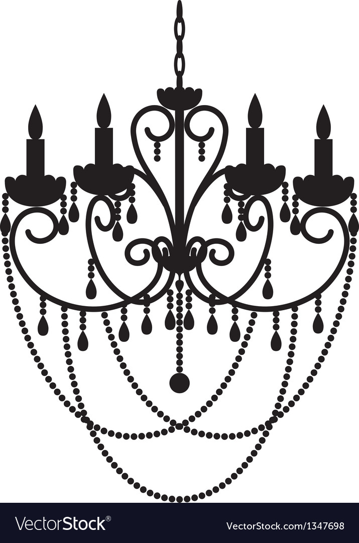Chandelier with beads vector | Price: 1 Credit (USD $1)