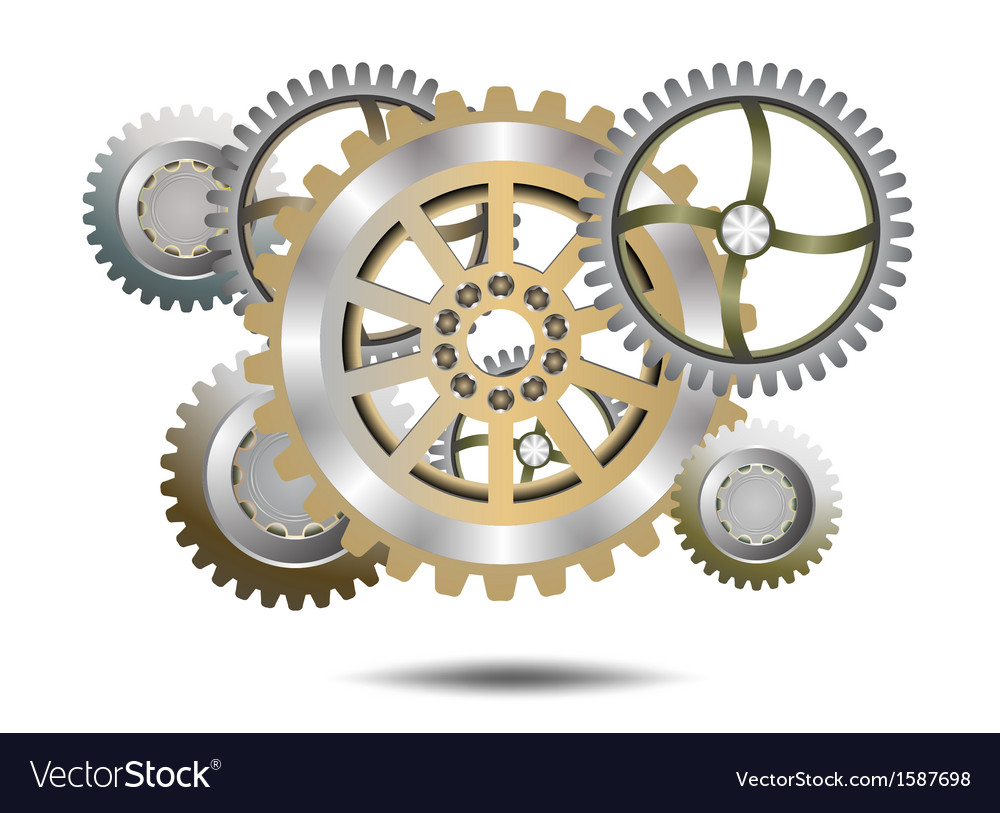 Chrome gears vector | Price: 1 Credit (USD $1)