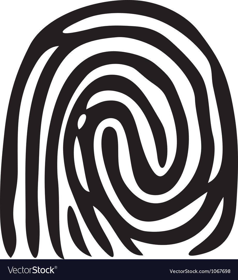 Finger print - fingerprint vector | Price: 1 Credit (USD $1)