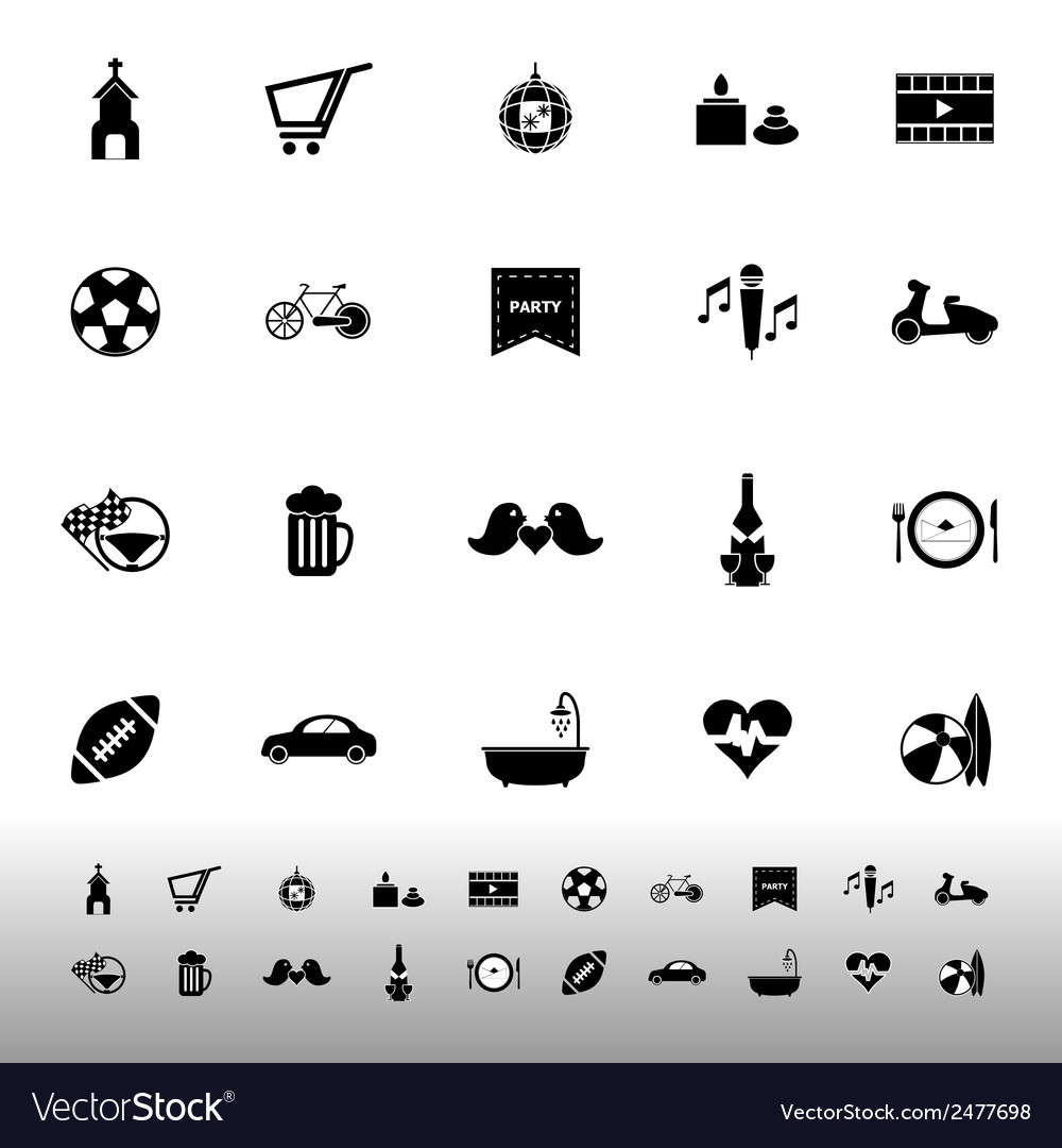 Friday and weekend icons on white background vector