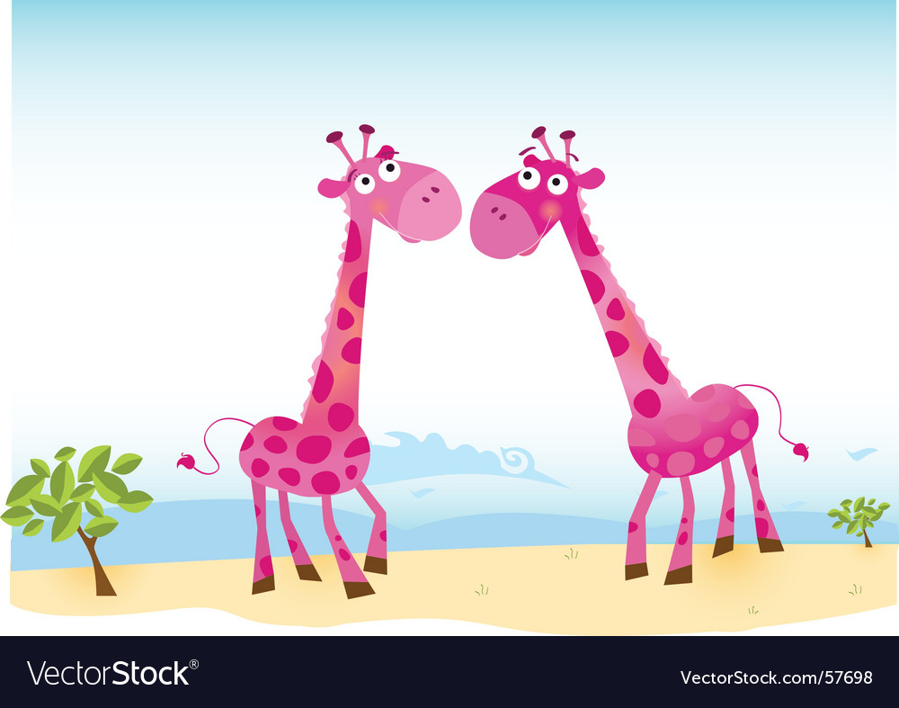 Giraffes in love vector | Price: 1 Credit (USD $1)
