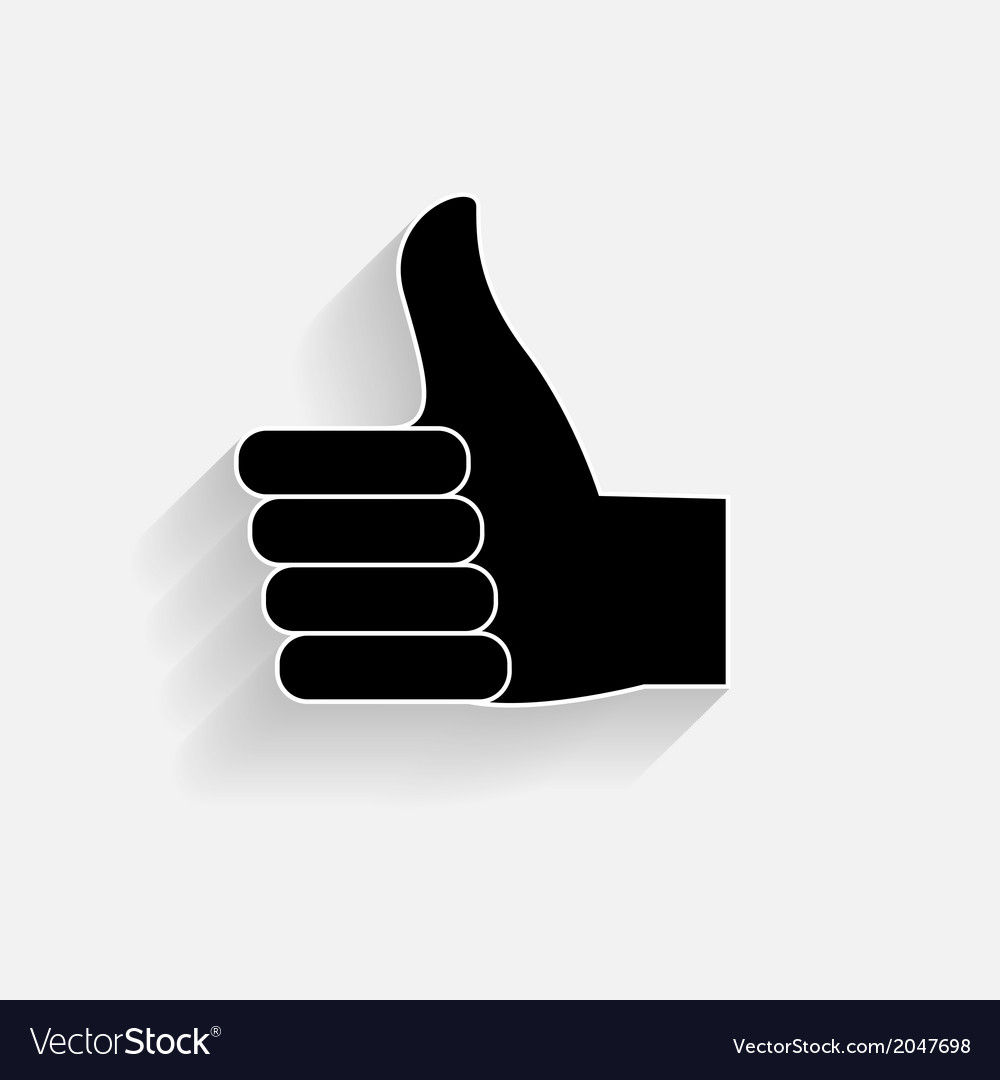 Hand signal on white  eps 10 vector   Price: 1 Credit (USD $1)