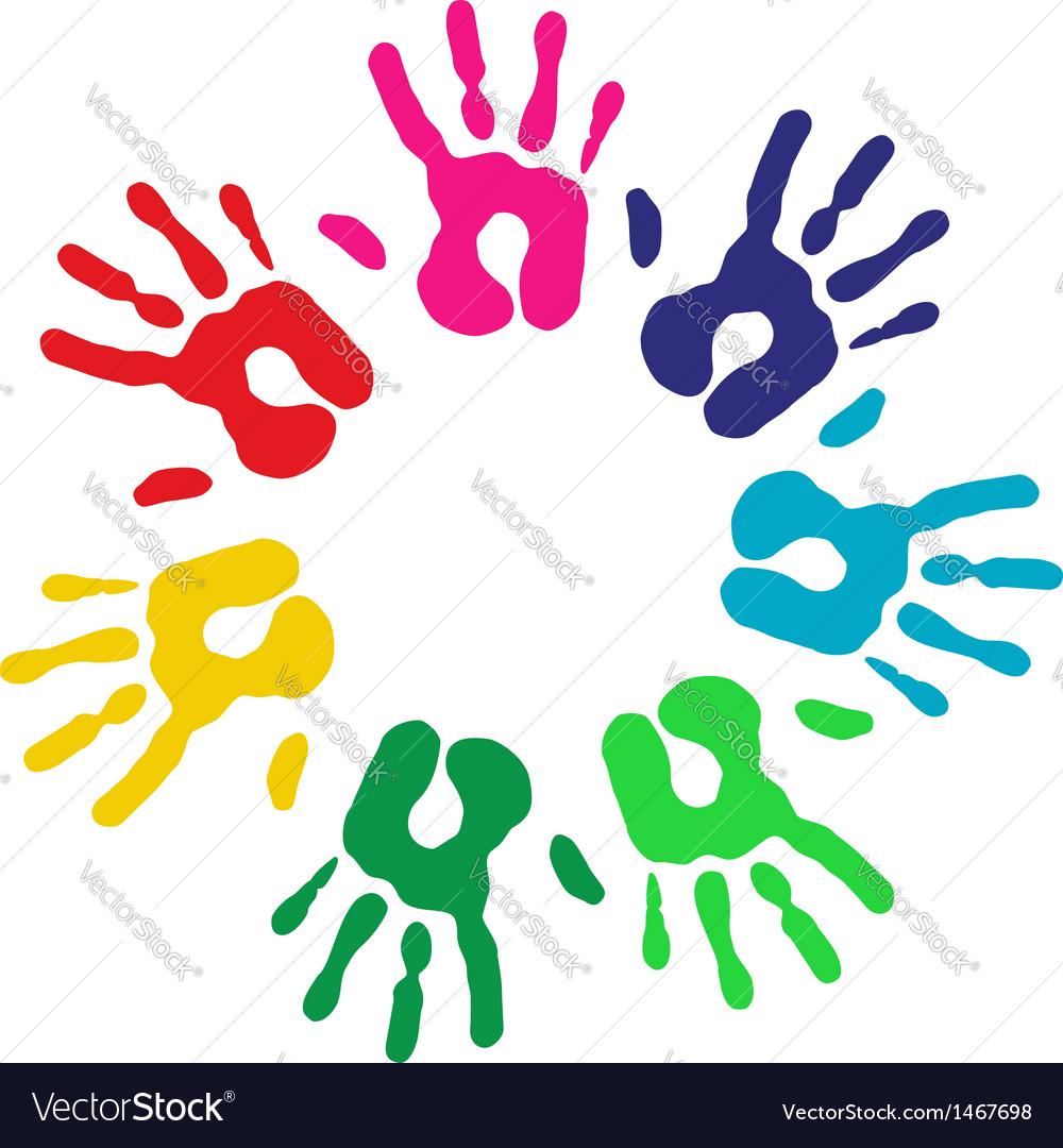Multicolor diversity hands circle vector   Price: 1 Credit (USD $1)