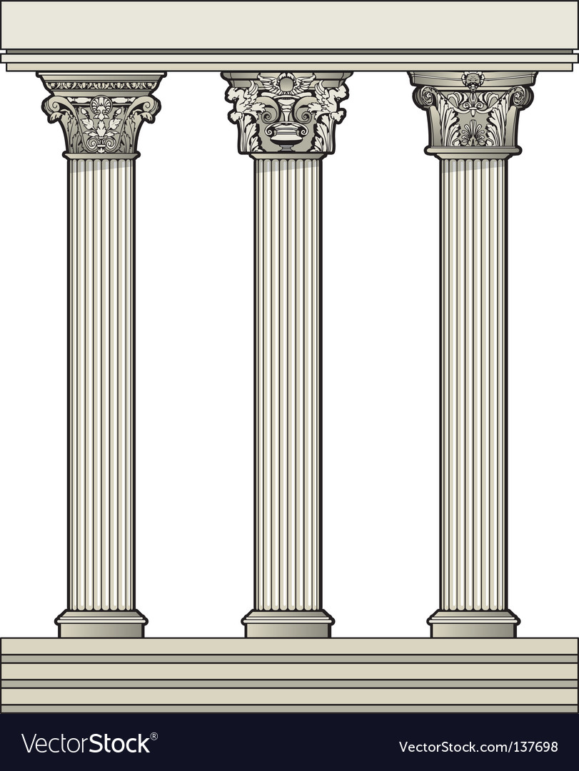 Roman architectural columns vector | Price: 1 Credit (USD $1)