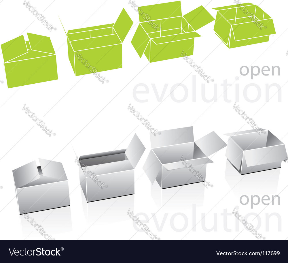 Carton boxes vector | Price: 1 Credit (USD $1)