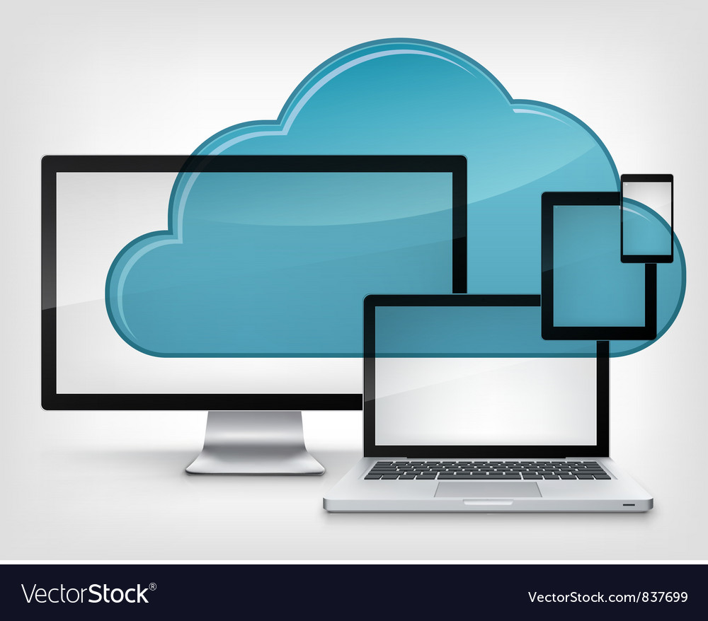 Cloud service vector | Price: 3 Credit (USD $3)