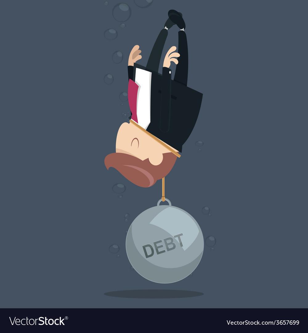 Debt vector | Price: 1 Credit (USD $1)