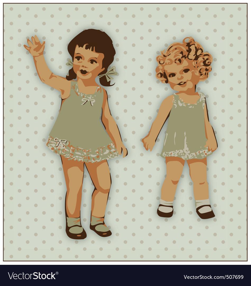 Dolls vector | Price: 1 Credit (USD $1)