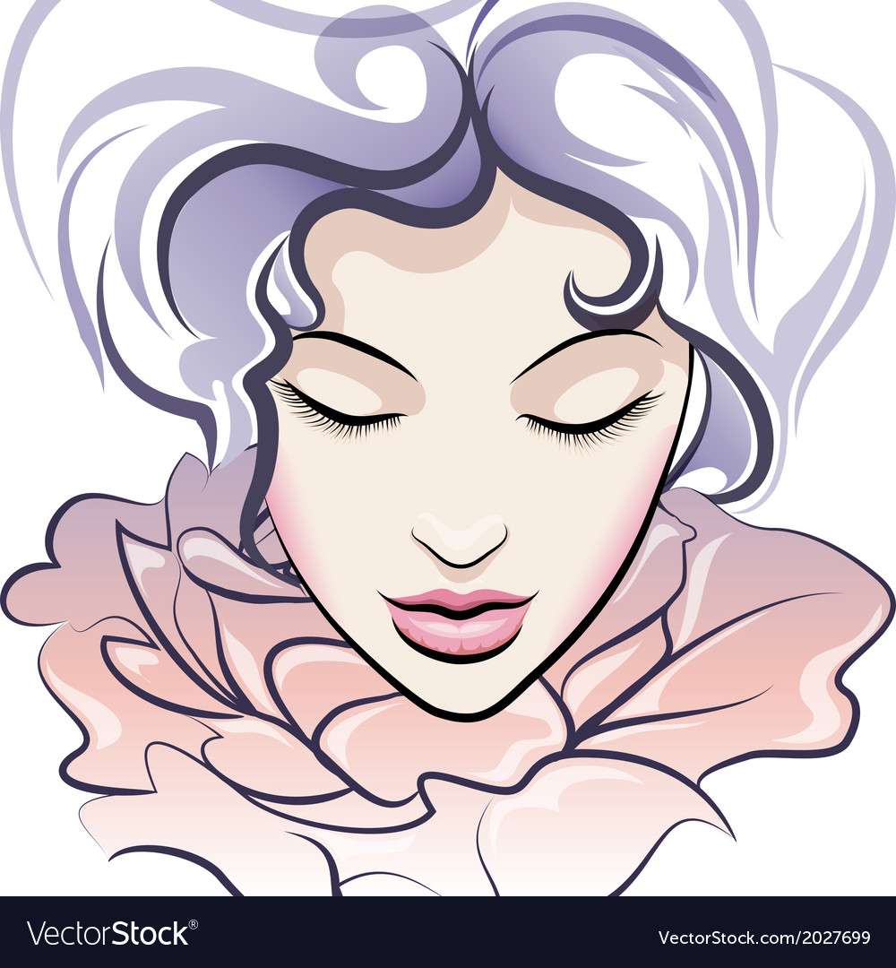 The flower face vector | Price: 1 Credit (USD $1)