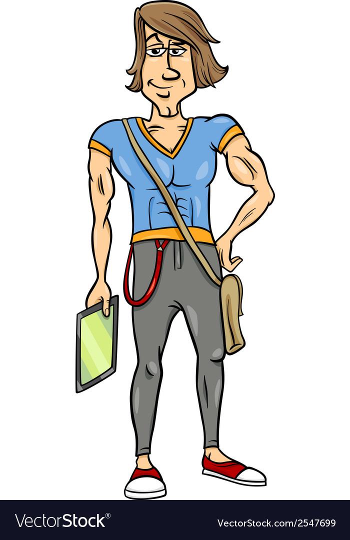 Handsome man cartoon vector | Price: 1 Credit (USD $1)