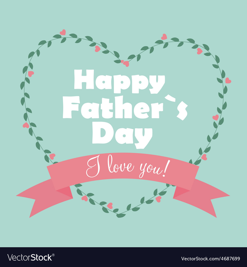 Happy father day poster card vector | Price: 1 Credit (USD $1)