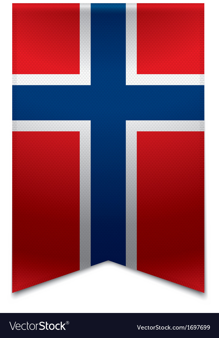 Ribbon banner - norwegian flag vector | Price: 1 Credit (USD $1)