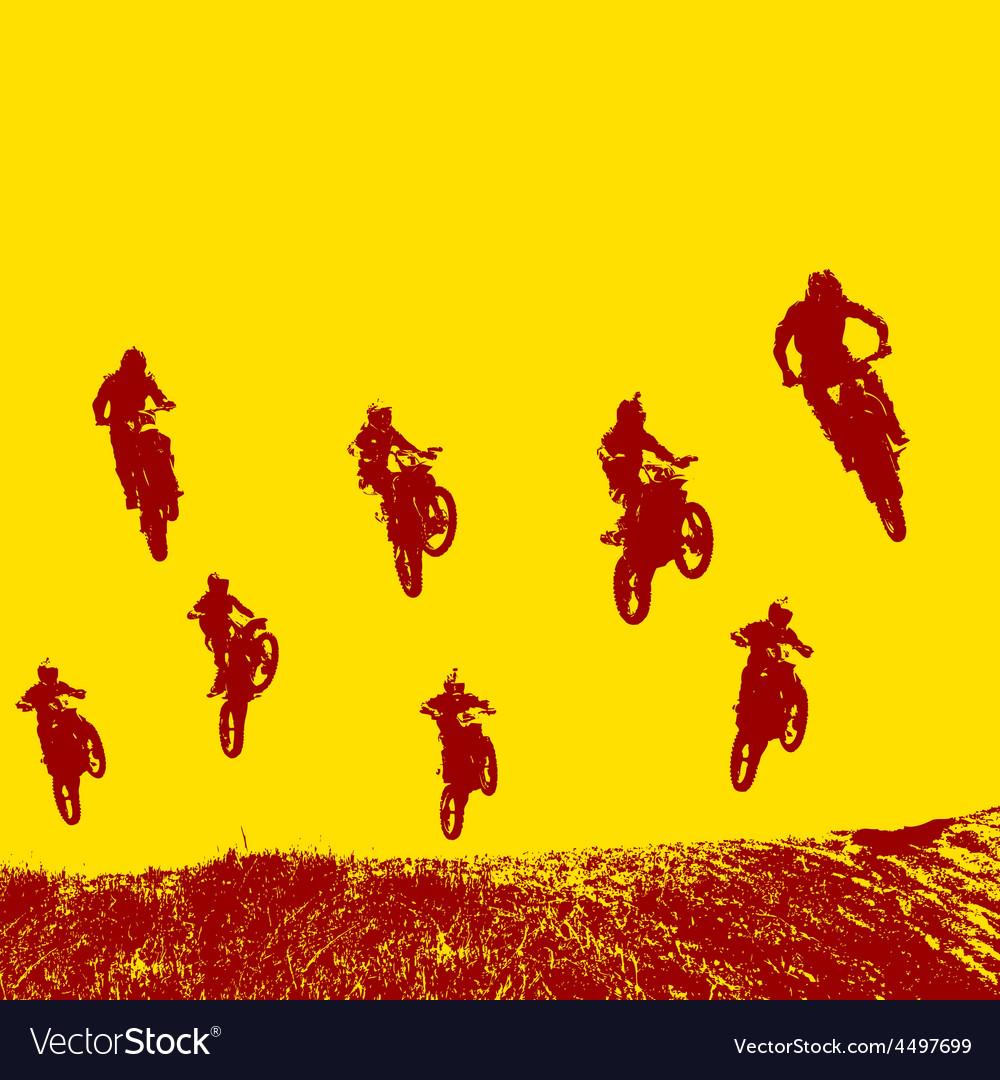 Rider participates motocross championship vector   Price: 1 Credit (USD $1)