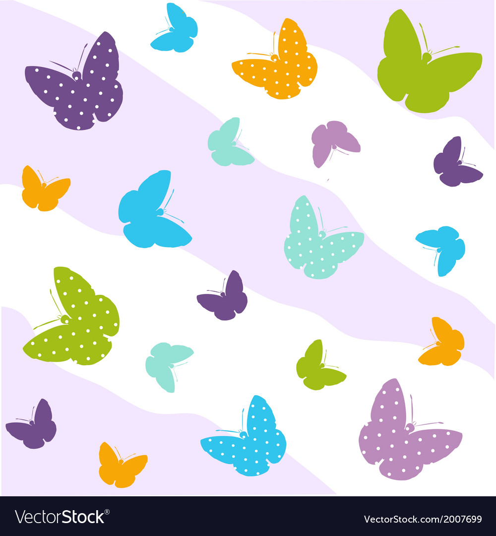 Seamless butterfly pattern vector | Price: 1 Credit (USD $1)