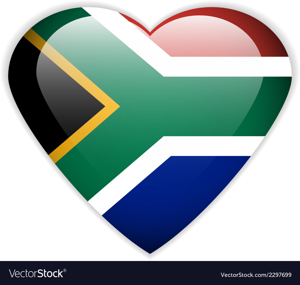 South africa flag button vector | Price: 1 Credit (USD $1)