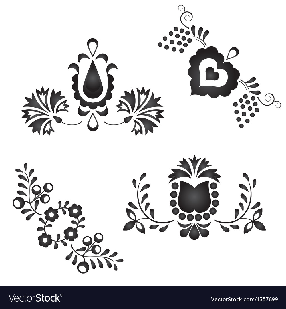 Traditional folk ornaments vector | Price: 1 Credit (USD $1)