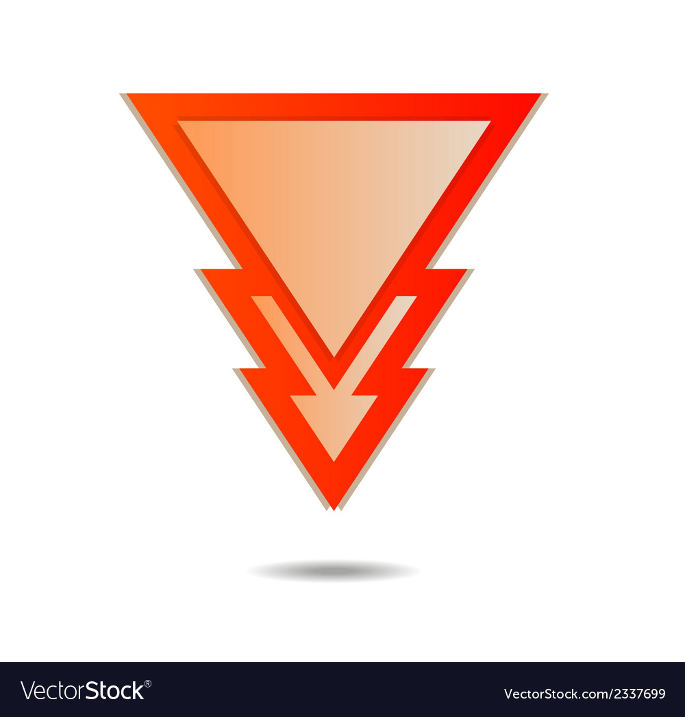 Triangle pointer vector | Price: 1 Credit (USD $1)