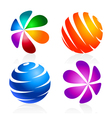 Colorful elements for the logo vector
