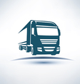 Europian truck outlined symbol vector