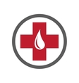 Blood donation emblem template vector