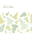 Green christmas trees silhouettes textile vector