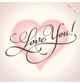 Love you - hand lettering vector