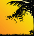 Palm tree for background black vector