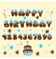 Happy birthday blue lettering vector
