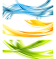 Abstract colorful wavy banners vector