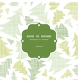 Green christmas trees silhouettes textile frame vector