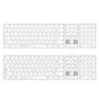 Keyboard vector