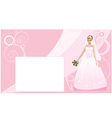 Bride and wedding background vector