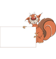 A squirrel with an empty blank cartoon vector