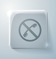 Forbidden to use phone glass square icon vector