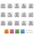Healthcare and medical buttons vector