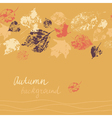 Horizontal seamless autumn background vector