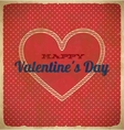 Vintage valentines day card with polka dots vector