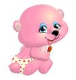 Bear girl pink vector