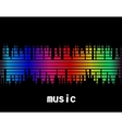 Music colorful equaliser bar in black background vector