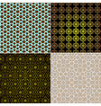 Seamless patterns in islamic style set vector