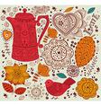 Decorative coffee background vector