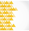 Yellow triangle background vector