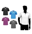 T-shirts male polo set vector