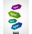 Color arrow labels vector
