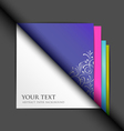 White paper and colored paper background vector