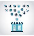 Shopping design over gray background vector