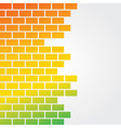 Colorful brick background vector