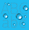 Water drop letters on blue new 01 vector